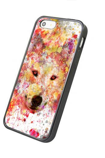Watercolor Wolf - iphone 4 4s case iphone 5 5s 5c case iphone 6 6 plus case ipod touch 4 ipod touch 5 case