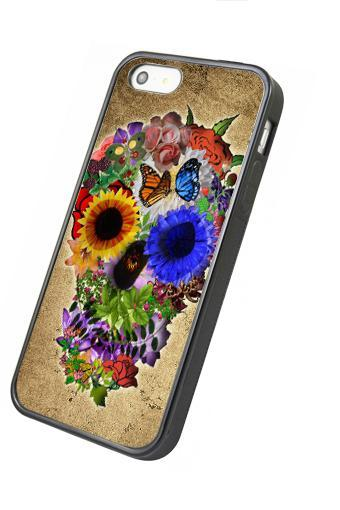 Floral sugar skull - iphone 4 4s case iphone 5 5s 5c case iphone 6 6 plus case ipod touch 4 ipod touch 5 case