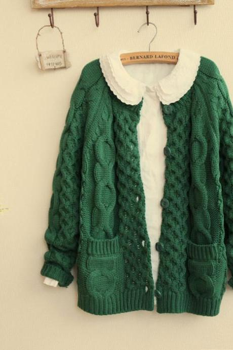 Nice Thick Twist Pullover Sweater