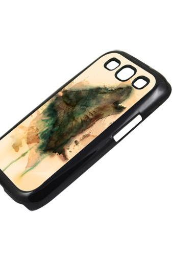 Art wolf - Sumsung Galaxy S2 i9100 case S3 i9300 S4 mini S5 Note 1 2 3 case