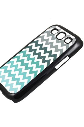 Grey mint green chevron - Sumsung Galaxy S2 i9100 case S3 i9300 S4 mini S5 Note 1 2 3 case
