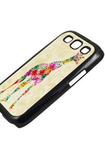 Floral giraffe - Sumsung Galaxy S2 i9100 case S3 i9300 S4 mini S5 Note 1 2 3 case