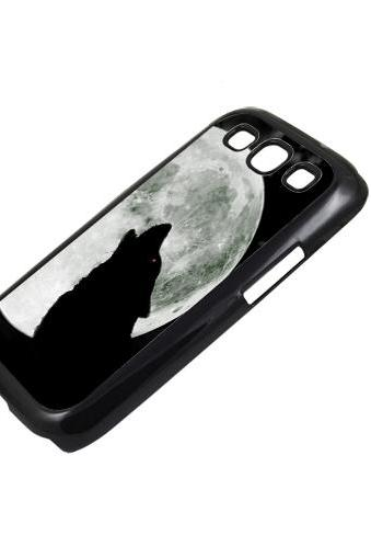 Wolf under the moon - Sumsung Galaxy S2 i9100 case S3 i9300 S4 mini S5 Note 1 2 3 case