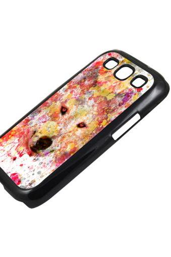 Floral wolf - Sumsung Galaxy S2 i9100 case S3 i9300 S4 mini S5 Note 1 2 3 case