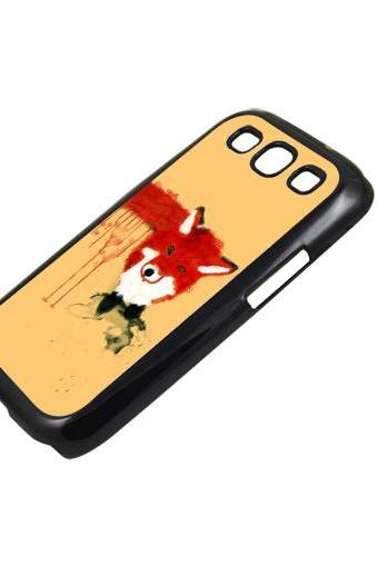Lovely fox - Sumsung Galaxy S2 i9100 case S3 i9300 S4 mini S5 Note 1 2 3 case