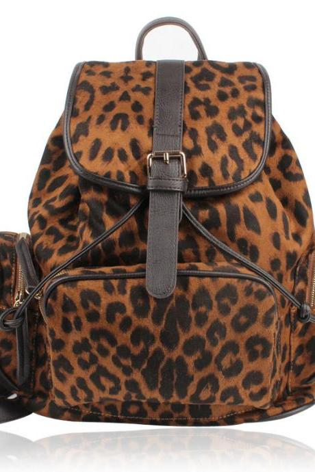 Unique Backpack With Leopard Prints