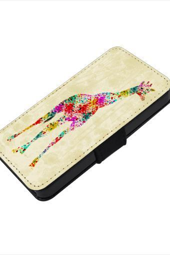 Colorful giraffe - canvas PU leatherette flip wallet iphone 4 4s case iphone 5 5s 5c case, S2 i9100 S3 i9300 S4 i9500 S5 case Note 1 2 3 case