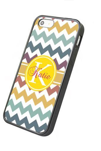 Monogram colorful chevron - iphone 4 4s case iphone 5 5s 5c case iphone 6 6 plus case ipod touch 4 5 case, Galaxy S2 3 4 mini S5 note 1 2 3 case