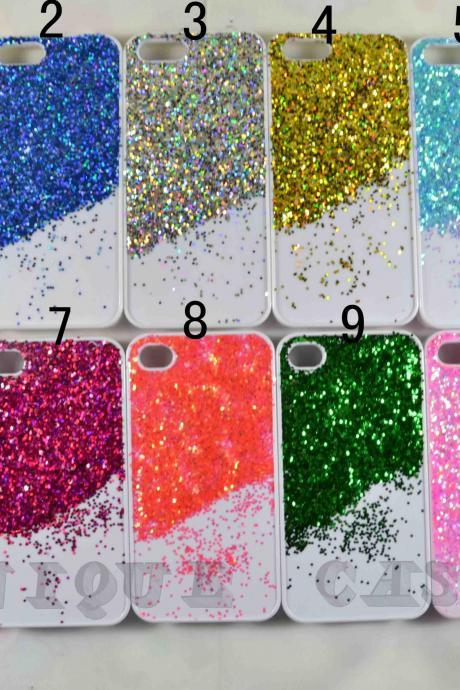 Real colorful glitter slice - iphone 4 4s case iphone 5 5s 5c case iphone 6 6 plus case ipod touch 4 5 case, Galaxy S2 3 4 mini S5 note 1 2 3 case