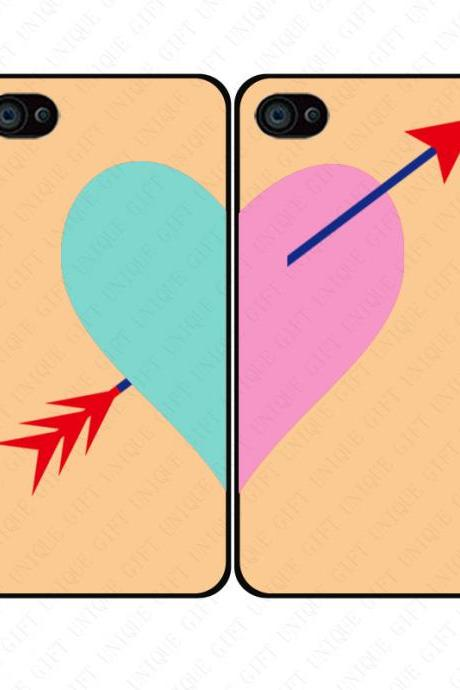 Cupid's arrow heart couple love - iphone 4 4s case iphone 5 5s 5c case iphone 6 6 plus case ipod touch 4 5 case, Galaxy S2 3 4 mini S5 note 1 2 3 case