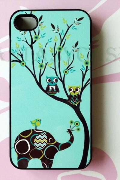 Elephant and Owls, iPhone 6+ plus Case, iPhone 6s+ plus Case, iPhone 6 Case, iPhone 6s Case, iPhone 5 Case, iPhone 5s Case, iPhone 4, iPhone 4s Case, iPhone 5C, Galaxy S6, Galaxy S6 Edge, Note 3, Note 4, Note 5, Phone Cases