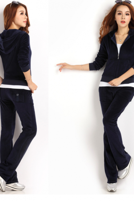 Autumn new velvet leisure suit sportswear