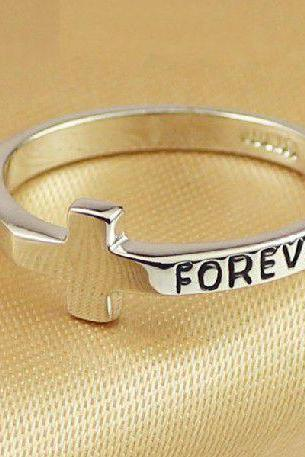Cross Forever Ring