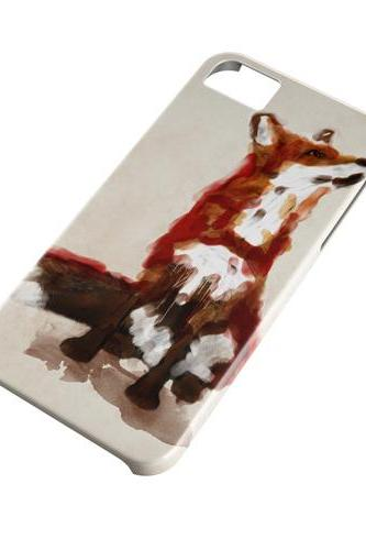 Art fox - full wrap iphone 4 4s case iphone 5 5s case iphone 5c case Galaxy S3 i9300 case