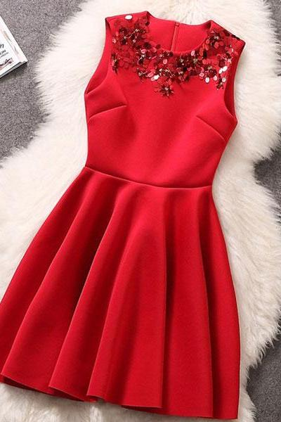 Sequin Beaded Slim Princess Dress