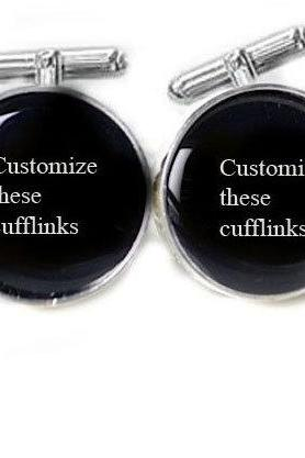 Men Cufflinks White personalized Wedding keepsake gift for him guys men father photo cuff links birthday anniversary