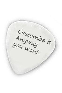 Silver Personalized Guitar Pick Customize it anyway you want Hand Stamped Music Men Gift for Him Birthday