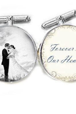 Wedding Photo Cufflinks Customize Your Photo Cufflinks personalized keepsake gift for him guys men father cuff links