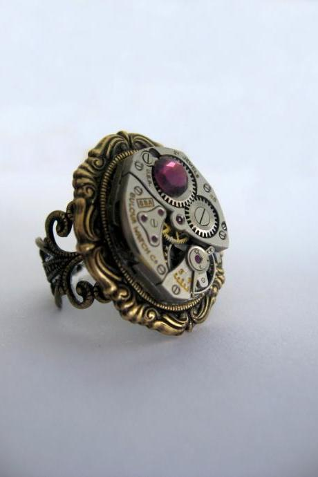 Steampunk Ring 'Amelia'