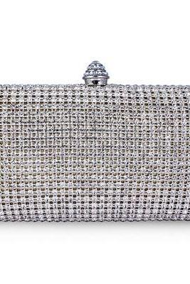 Full Crystal Minaudere Evening Clutch
