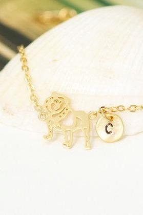 My Doggy Bracelet, My Doggy Initial Bracelet, dog lovers, Dog Bracelet