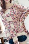 Loose knit sweater jacket SF102805HK