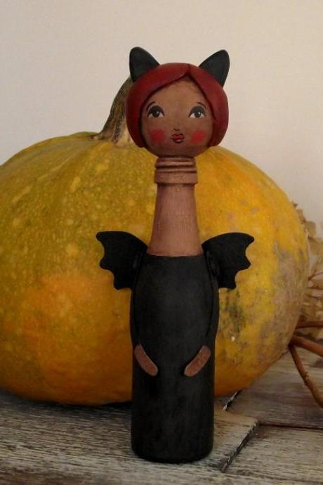 Lori, the 'Bat Girl' - 'Bottle Whimsies' collection doll