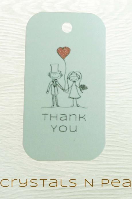 24 Couple in Love Customised Gift Tags - Wedding Favor Tags - Thank you tags - Wedding Gift Tags - Baby Shower Tags