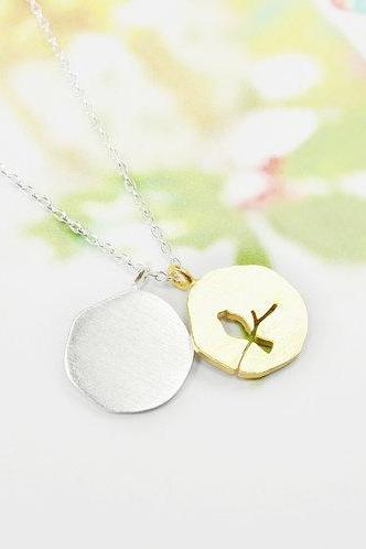 Bird On The Branch Necklace, Double Pendant Necklace