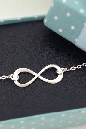 Sterling Silver Infinity Bracelet, Infinity Ring Bracelet, Best Friend Gift, Birthday Gift, Christmas Gift