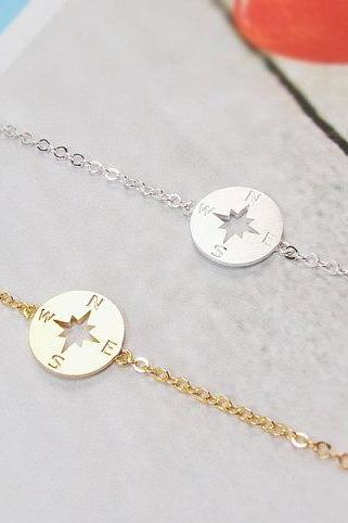 Compass Bracelet, Nautical Jewelry