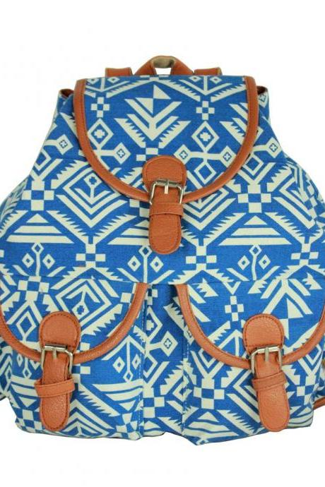 New Look Aztec Printed Backpack
