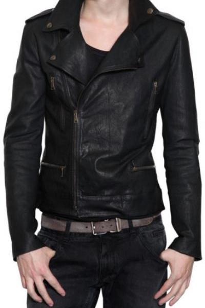 MENS BIKER LEATHER JACKET, MEN BLACK BIKER LEATHER JACKET, MEN FASHION JACKETS