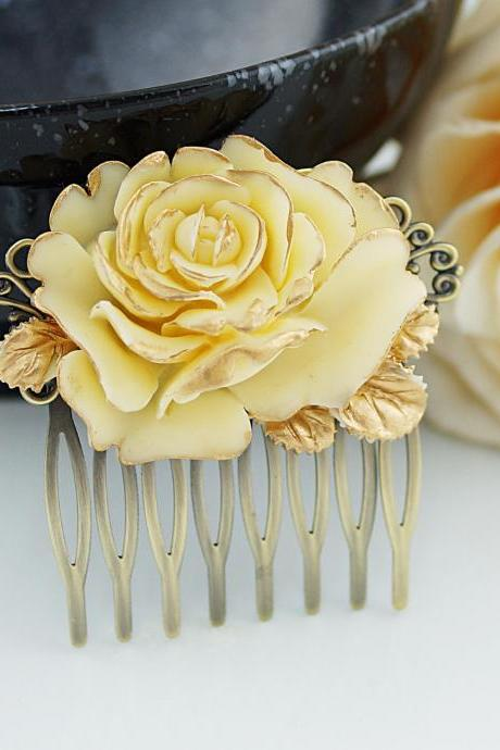 Bridal Hair Comb Wedding Hair Comb Bridesmaids Gift Vintage style Rose Hair comb Bridal Hair accessories Bridal Hair Piece