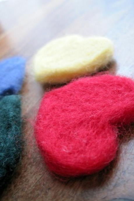 Beautifully soft merino hearts x5