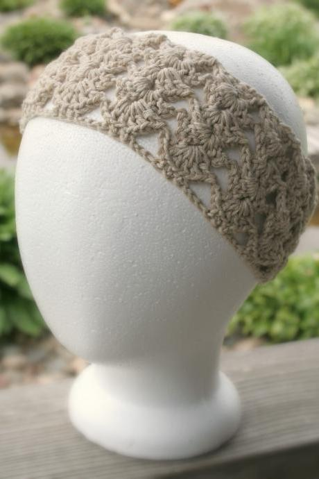 Crochet Lace Headband Wrap