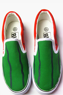 Hand painted canvas shoes graffiti watermelon shoes