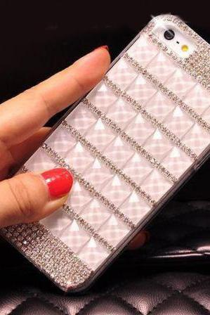 Bling Crystal Diamond iPhone 4 case,Bling iphone 4s case,Crystal iphone 4 Case,Luxury Bling crystal iphone 5 case cover,Bling crystal iphone 5s case White
