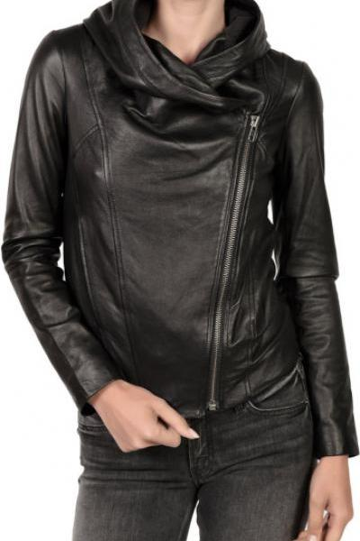 WOMEN'S HOODED LEATHER JACKET, WOMENS LEATHER JACKETS, WOMEN LEATHER HOODIES