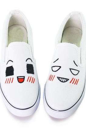 Cute face hand-painted couple canvas shoes shoes fashion personality