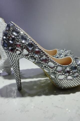 Shiny and Gorgeous High Heels with Rhinestone, High Heels, Women High Heels