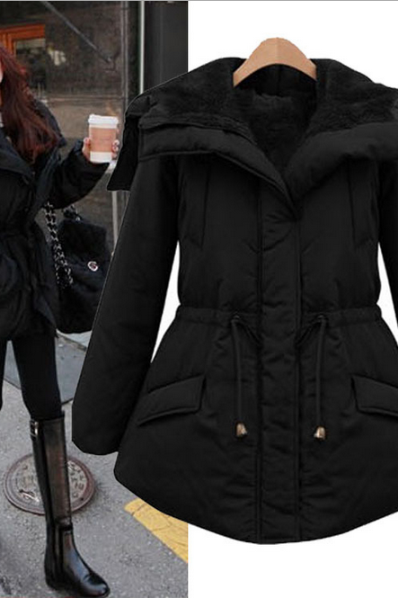 Long sleeved cotton padded winter clothes fashion slim padded jacket coat