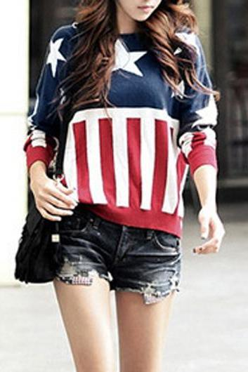 Fashion New Style Round Neck Long Sleeve Sweater for Lady