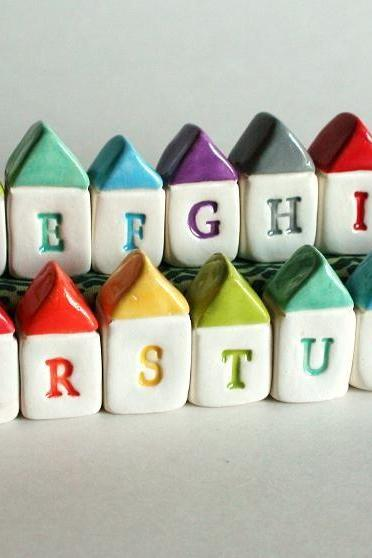 CUSTOM ALPHABET A to Z Miniature Houses