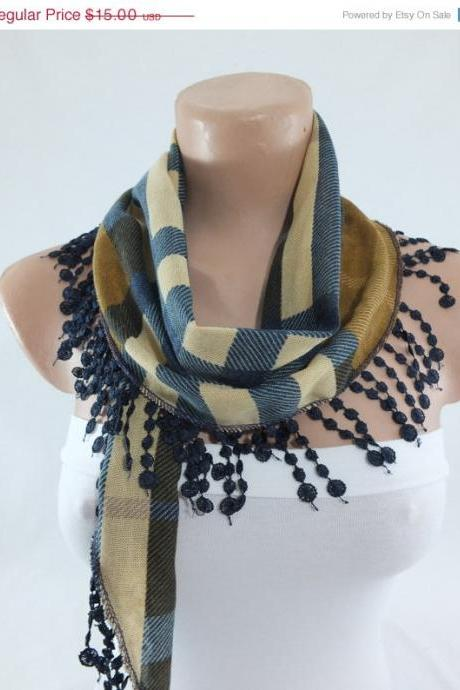 Multicolor winter scarf, cowl with polyester trim,neckwarmer, scarf necklace, foulard,scarflette,