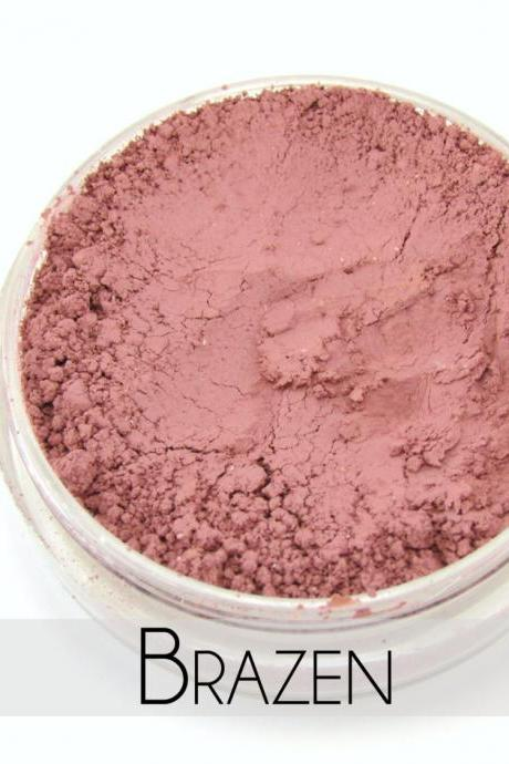 Mineral Blush, Vegan Mineral Makeup, Vegan Blush, Natural Makeup, Cruelty Free - - Brazen