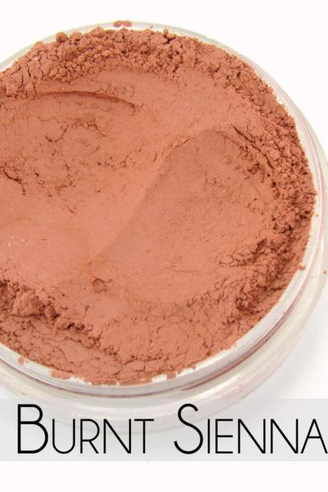 Mineral Blush, Vegan Mineral Makeup, Vegan Blush, Natural Makeup, Cruelty Free - - Burnt Sienna