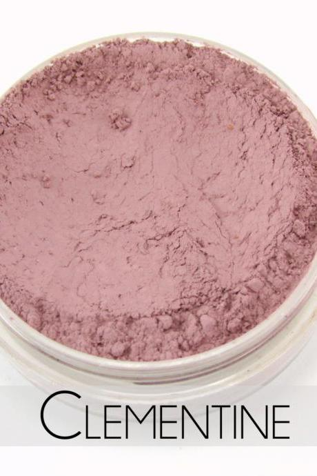Mineral Blush, Vegan Mineral Makeup, Vegan Blush, Natural Makeup, Cruelty Free - - Clementine