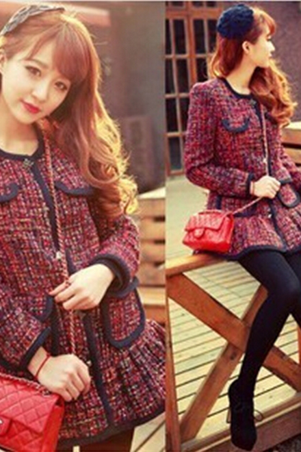 f103217086a Europe and the United States women's autumn and winter of 2014 new color  coarse woolen coat