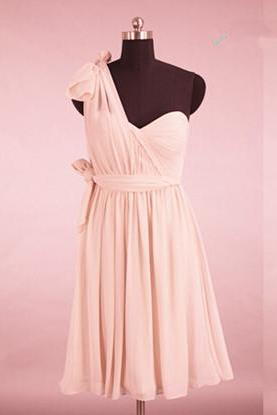 Adorable Pink Sweetheart Convertible Bridesmaid Dress, Three Looks, Pink Bridesmaid Dresses, Wedding Party Dresses(Color #12)